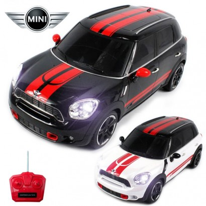 Official Licensed CM-2203 1:18 Mini Cooper Countryman Radio Remote Controlled RC Electric Car - Ready To Run EP RTR - Black / White