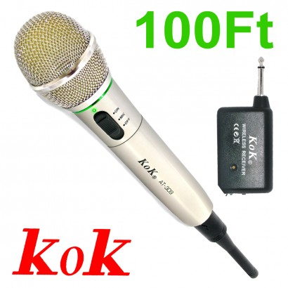 KoK AT-309 Wireless Wired DJ Karaoke Public Address PA XLR Microphone