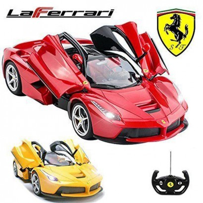 Comtechlogic® CM-2206 Official Licensed 1:14 Ferrari LaFerrari Radio Remote Control RC USB Electric Car with Opening Doors- Ready to Run EP RTR