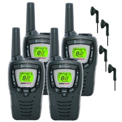 8km Cobra Mt645 Two Way Pmr 446 Walkie Talkie Licence Free Radio 4 X  tech Cm 15pt Ptt Handsfree Headsets Quad Pack on best gps for boats