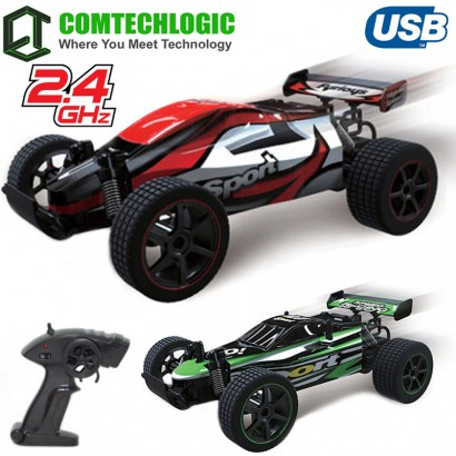 Comtechlogic® CM-2218 2.4Ghz 1:20 USB Electric Game Champion Remote Radio Control RC 20Kmh Fast High Speed Racing Indoor & Outdoor Buggy Truggy Car EP RTR