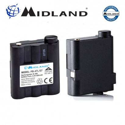Midland PB-ATL/ G7 Radio Battery For G7 ATLANTIC PACIFIC G9 GXT1050 GXT1000