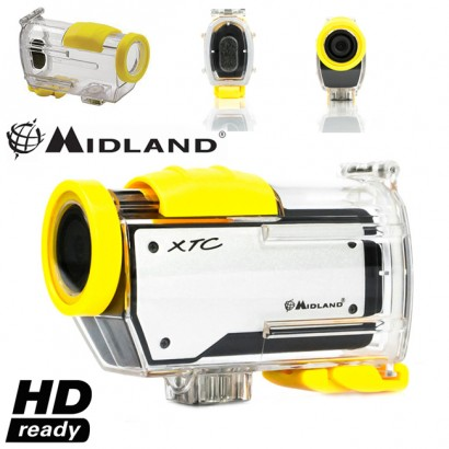 Midland XTC260 HD Ready Video Action Camera Camcorder for Skiing Diving Watersports