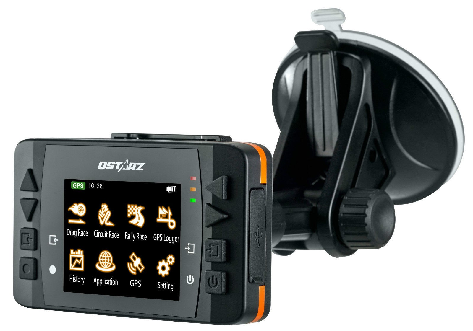 Drag Racing Data Logger Dash : Qstarz lt q scx quot lcd hz gps data logger and