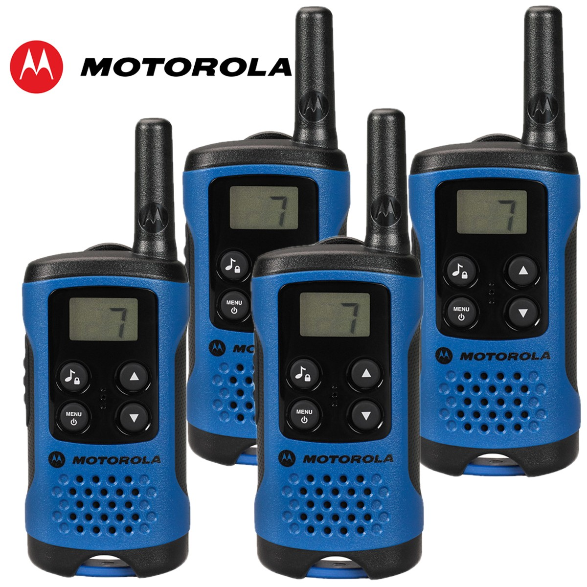 4km motorola tlkr t41 walkie talkie 2 two way pmr 446 compact radio set quad. Black Bedroom Furniture Sets. Home Design Ideas