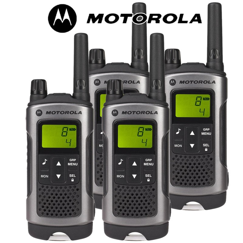 10km motorola tlkr t80 walkie talkie 2 two way radio quad. Black Bedroom Furniture Sets. Home Design Ideas