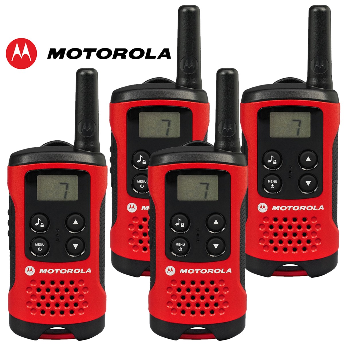 4km motorola tlkr t40 walkie talkie 2 two way pmr 446 compact radio set quad. Black Bedroom Furniture Sets. Home Design Ideas