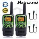 6km Midland XT30 Licence Free 2 Two Way Walkie Talkie PMR446 Radio + 2 Headsets