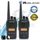 Midland G18 IP67 Waterproof Licence Free Two Way Walkie Talkie Business Radio Twin