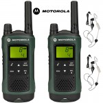 10Km Motorola TLKR T81 Hunter Two Way Radio Walkie Talkie Travel Pack with 2 x Headsets for Air soft, Paintballing, Skiing & Go Karting - Twin