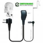 Comtechlogic CM-50PT Handsfree Security Bodyguard Covert Acoustic Tube Headset with PTT for Midland Two way Radios