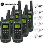 10Km Motorola TLKR T81 Hunter Two Way Radio Walkie Talkie Travel Pack with 6 x Headsets for Air soft, Paintballing, Skiing & Go Karting - Six