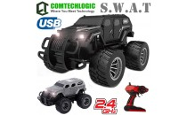 Comtechlogic® CM-2220 2.4Ghz 1:12 Scale USB Electric US SWAT Armoured Combat Off   Road Cross Country RC Radio Remote Control SUV TrucK EP RTR