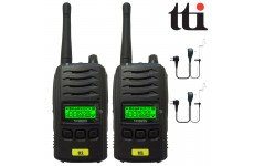 TTi TX-1000U Waterproof IP67 Submersible PMR 446 Radio Transceivers + 2 Comtech CM-50PT Headsets