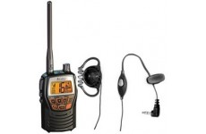 Cobra MR HH125 EU Version Handheld VHF Marine LCD Radio with Comtech CM-35PT Headset