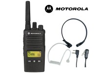 8Km Motorola XT460 Two Way PMR 446 Walkie Talkie Licence Free Radio with Comtech CM-515TH PTT/VOX Throat mic Headset for Business & Military Use