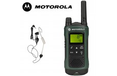 10Km Motorola TLKR T81 Hunter Two Way Radio Walkie Talkie Travel Pack with Headsets for Air soft, Paintballing, Skiing & Go Karting