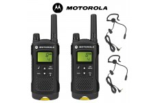 8Km Motorola XT180 PMR Walkie Talkie TWO WAY RADIO Twin pack + 2  headsets with boom Mics