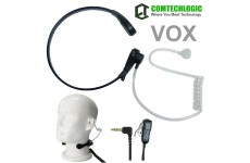 Comtechlogic CM-215TH Handsfree Covert Acoustic Tube Throat Mic Headset with PTT/VOX for Motorola Two way Radios