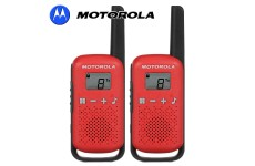 4Km Motorola TLKR T42 Walkie Talkie 2 Two Way PMR 446 Compact Radio Set - Twin Red