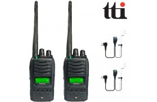 TTi TX-2000U 5W Waterproof IP67 Submersible PMR 446 Radio Transceivers + 2 Comtech CM-50PT Headsets