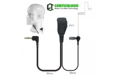 Comtechlogic CM-30PT Handsfree Security Bodyguard Covert Acoustic Tube Headset with PTT for Motorola Two way Radios
