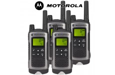 10Km Motorola TLKR T80 Walkie Talkie 2 Two Way Radio - Quad