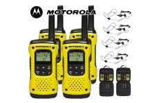 10Km Motorola TLKR T92 H2O Floating Two Way Radio Walkie Talkie Travel Pack with 4 x Headsets - Quad