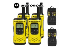 10Km Motorola TLKR T92 H2O Floating Two Way Radio Walkie Talkie Travel Pack - Quad