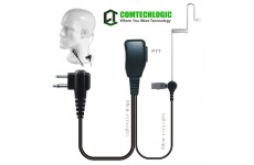 Comtechlogic CM-50PT Handsfree Security Bodyguard Covert Acoustic Tube Headset with PTT for iCom Two way Radios