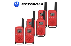 4Km Motorola TLKR T42 Walkie Talkie 2 Two Way PMR 446 Compact Radio Set - Six Red