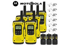 10Km Motorola TLKR T92 H2O Floating Two Way Radio Walkie Talkie Travel Pack with 6 x Headsets - Six
