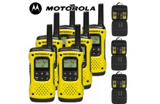 10Km Motorola TLKR T92 H2O Floating Two Way Radio Walkie Talkie Travel Pack - Six