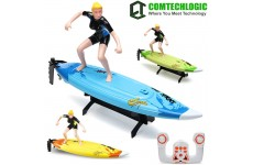 "Comtechlogic® CM-2226 2.4Ghz 16"" RC Radio Remote Control 2 Speed Surfboard Boat EP RTR"