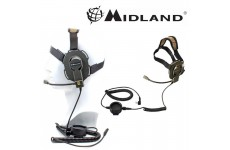 Midland Bow - M EVO Military Style Headset for 2 Pin Midland Radios