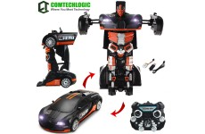 Comtechlogic® CM-2179 2.4Ghz Bugatti Veyron Rc Radio Remote Control Bumblebee Transformers Drifting Car & Robot with one touch transforming