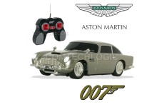 007 James Bond Aston Martin DB5 Radio Remote Control Car with Lights Sound and Secret Weapons Reveal - Skyfall