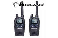 12Km Midland G7 Pro Dual Band Long Range Walkie Talkie Two Way PMR 446 Radio Licence Free  - Twin pack