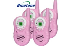 Binatone Latitude 150 Walkie Talkie Two Way Licence Free PMR446 Radio Pink - Quad