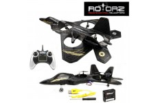 Rotorz RT08 Predator F2 Super Fighter Jet Drone Quadcopter with Built in Gyro & LCD Display Remote Control RTR EP