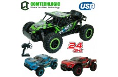 Comtechlogic® CM-2221 2.4Ghz 1:12 Scale USB Electric Muscle Off Road RC Radio Remote Control SUV Buggy Car EP RTR - Inddor & Outdoor