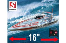 "Double Horse 7001 Remote Control Racing Speed Boat -  RTR  16""  Long"