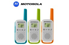 4Km Motorola TLKR T42 Walkie Talkie 2 Two Way PMR 446 Radio 3 Triple Colour Pack