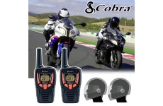 Cobra AM645 Motorbike Walkie Talkie PMR Radio Intercom Close Face Headsets
