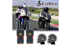 Cobra AM1035 Motorbike Walkie Talkie PMR Radio Intercom Close Face Headsets
