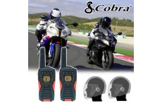 Cobra AM1035 Motorbike Walkie Talkie PMR Radio Intercom Open Face Headsets