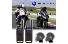 Motorola T82 Motorbike Walkie Talkie PMR Radio Intercom Close Face Headsets