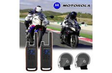 Motorola T82 Motorbike Walkie Talkie PMR Radio Intercom Open Face Headsets
