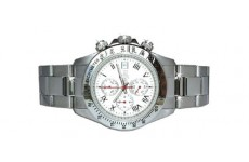 Gents Oskar Emil Monterey Steel Sports Chronograph Watch with White Dial RRP £295
