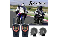 Cobra AM645 Motorbike Walkie Talkie PMR Radio Intercom Open Face Headsets